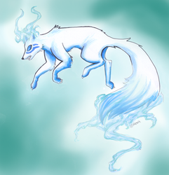 Fox spirit Blue by Takechi-neko