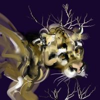 Leopard with Branches by ChloeC