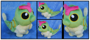 Commission: Caterpie Custom Plush by Nazegoreng