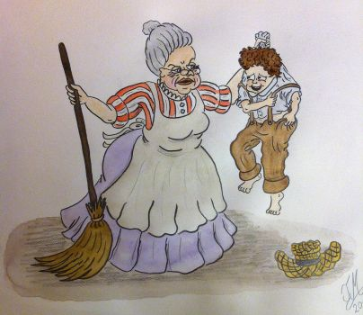 Tom Sawyer and Aunt Polly by Drawing-Count