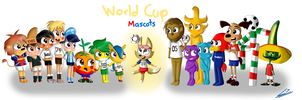 World Cup Mascots by AngelQueen14