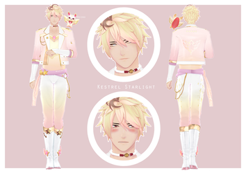 (Star Guardian OC) Kestrel Starlight - Reference by koiinu