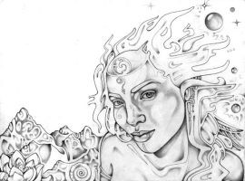Astral Perception (WIP) by lauraborealisis