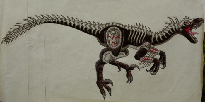 Machinosaurus Velociraptor by queenmariann