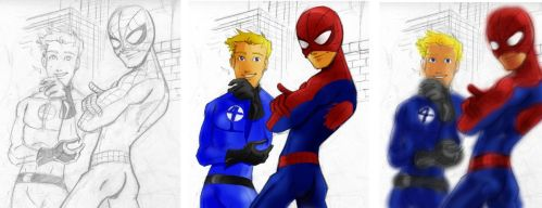 Johnny and Spidey by ngoziu