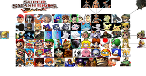 Super Smash Bros BDream Roster by H-Guggs