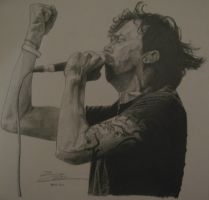 Tim McIlrath - Pencil Portrait by El-Pudding