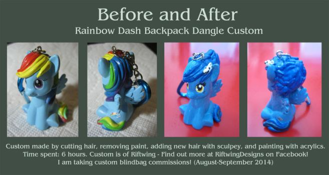 Custom MLP Backpack Dangle (Rainbow Dash) by RiftwingDesigns