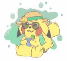 Summer Pikachu doodle by Millymew