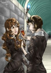HP Hermione VS Pansy by Honeyeater