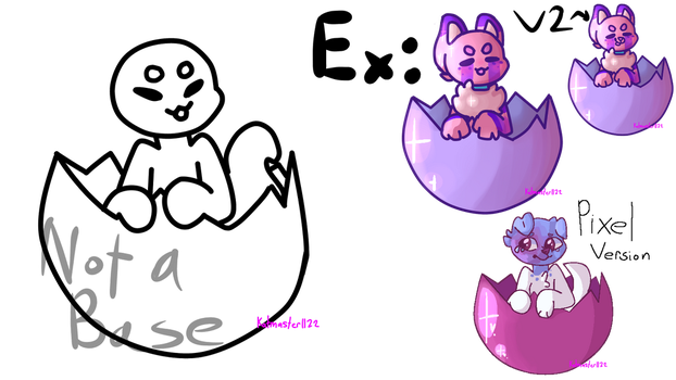 NYP CHIBI {Easter/egg Ych} OPEN by Katmaster1122