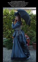 Blue dressed Victorian Lady III by MADmoiselleMeliStock