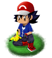 Chibi Ash by charlot-sweetie