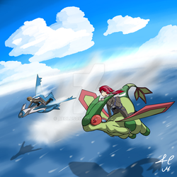 Flying over the ocean by Aeolus097