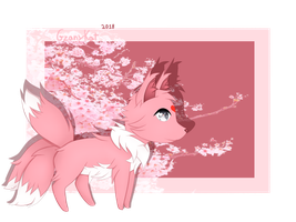 A little pink sakura Fox by GzanyKat