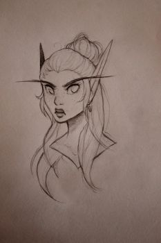 Sketch: Elueth by Foxiart