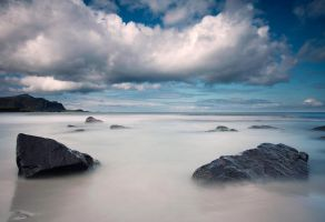 Rocky beach by streamweb