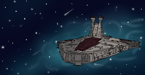 Republic Cruiser by Cinnomnomnom