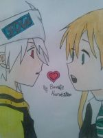 Soul and Maka by Co0kIeMoNeStEr