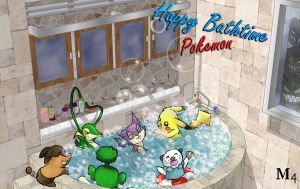 Bathtime Pokemon