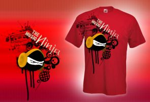 the Ninja  Music T-shirt by allendarylcz
