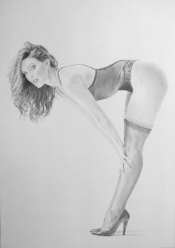 Drawing of 'Vaunted Triangle', photo by Clydemoe by stevie-wydder