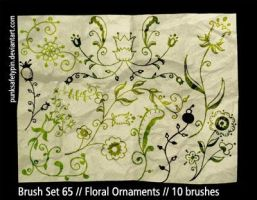 Brush Set 65 - FloralOrnaments by punksafetypin