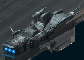 Kushan Destroyer from Homeworld part2 by 4-X-S