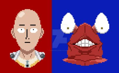 One Punch Man Vol 1 - Saitama and Crablante by DanRussell93