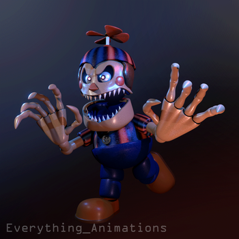 Nootmare Balloon Boy's RUN Cycle by EverythingAnimations