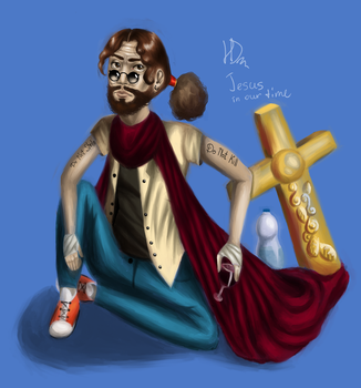 Jesus in our time by HelgaDi