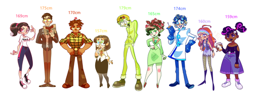 SupJect Height Chart by Mannievelous