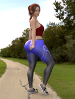 Leggings Girl by Lanif-Angelkiss