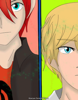 Nath And Adrien! by Meeryee