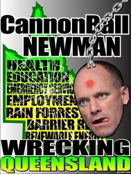 Cannonball Newman: Wrecking Queensland by scart