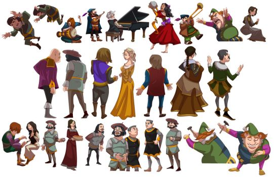 Extra and Background characters by NemoNova