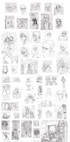 Sketches, January 2013 by HannaKN