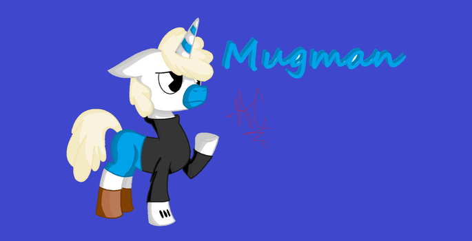Mugman In My Little Pony Style(My Version) by ArtistiaCons