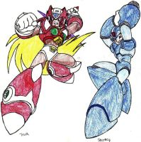 Megaman X and Zero by ShuyinK
