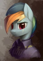Rainbow Dash as a newly-inducted Ministry Mare by DraconidsMXZ