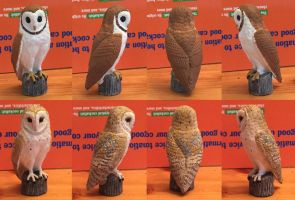 Barn Owl Figurine Repaint by ProjectOWL