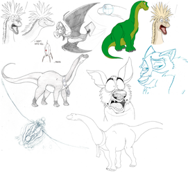 And More Sketch Dumping by GilmourApatosaur