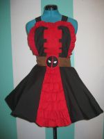 Deadpool Marvel Inspired COsplay Pinafore by DarlingArmy