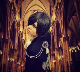 Forever Without Happiness - Ciel Phantomhive by NaruForeverSasu