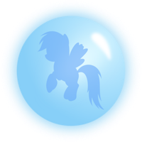 Rainbow Dash Ball Blue by Racefox