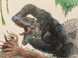Indominus Rex vs King Kong by Mechafire1234