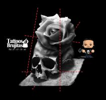 Skull And Roses by hermanosaban