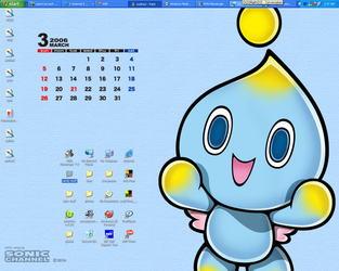 spiffy chao wallpaper by candybeyatch