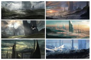Sci-Fi City Concepts by BoldCat