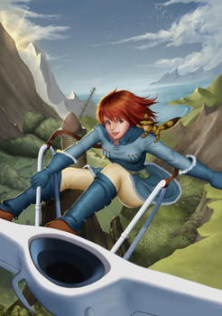 Nausicaa of the Valley of the Wind by wl2089370